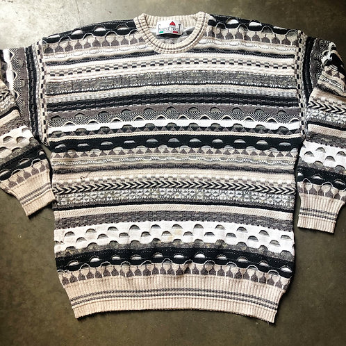 Vintage Florence Tricot Textured Coogi Like Sweater Sz L