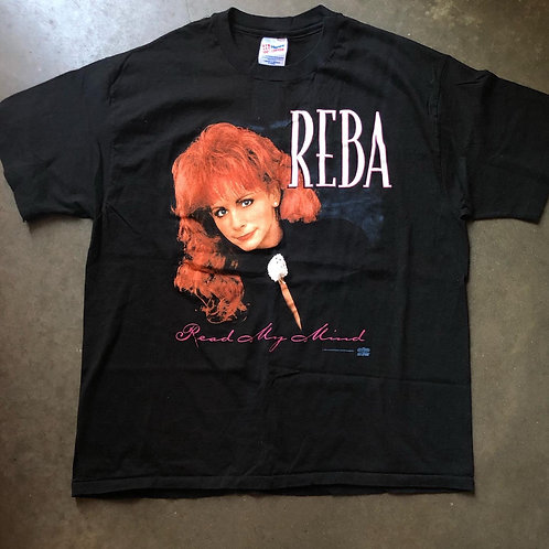 Vintage Hanes Reba McEntire Read My Mind Tour T Shirt Tee Sz XL