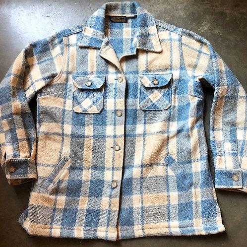 Vintage 70s Eddie Bauer Wool Flannel Jacket Sz L