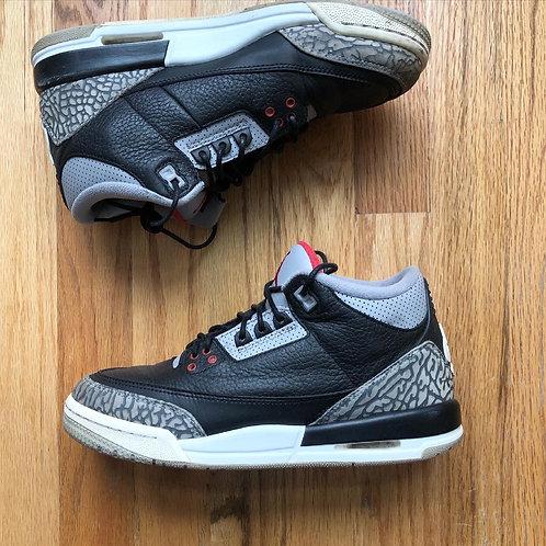 2018 Nike Air Jordan 3 III Retro Black Cement Sz 7Y