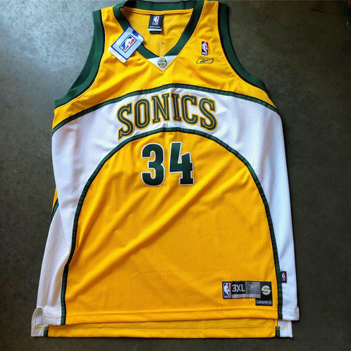 new product 80707 6f20d NWT Reebok Authentic Ray Allen Seattle SuperSonics Jersey Sz 3XL