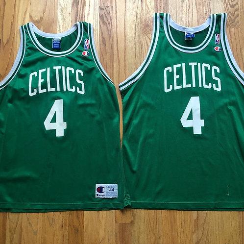 Vintage Champion Boston Celtics Chauncey Rookie Jersey Sz 44