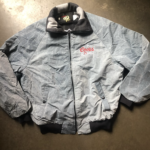Vintage Pro Fit Coors Rodeo Fleece Lined Jacket Sz L