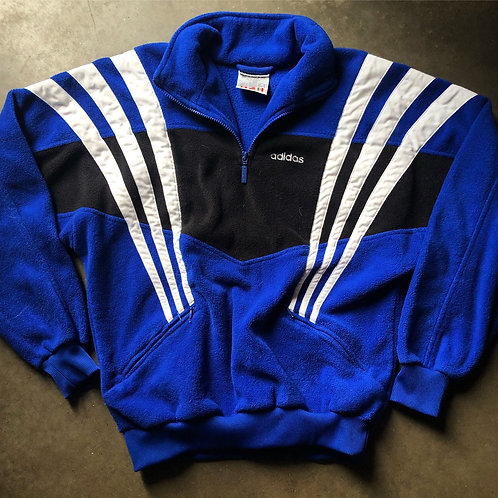 Vintage Adidas Soccer Fleece Zip Jacket Sz S