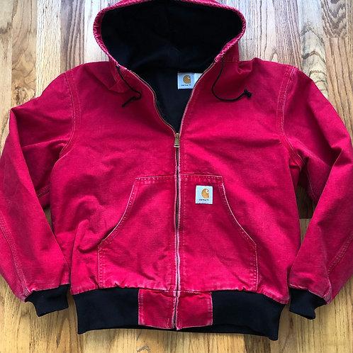 Vintage Carhartt USA Cherry Red Jacket Sz L