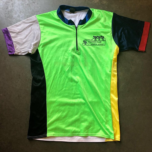 Vintage Team Graffiti Color Block Biking Jersey Sz M/L