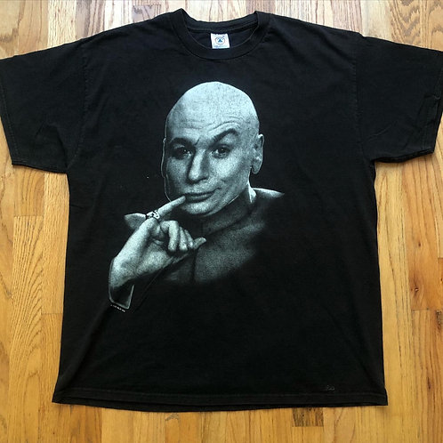Vintage Delta 1998 Austin Powers Dr. Evil Movie Promo T Shirt Tee Sz XL