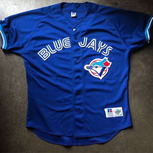 Vintage Russell Diamond Collection Toronto Blue Jays Authentic Jersey Sz 48 (XL/