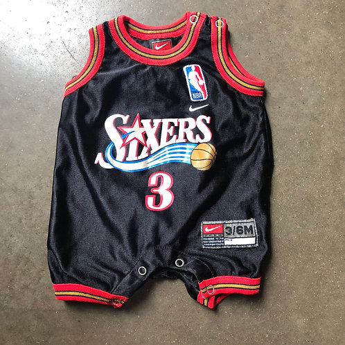 Vintage Nike Philadelphia 76ers Allen Iverson Infant Jersey Sz 3/6M