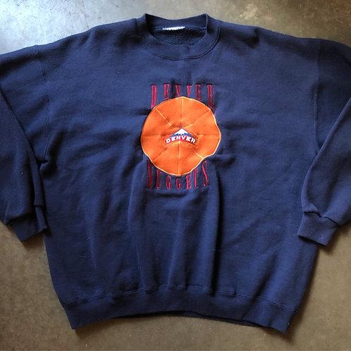 Vintage Denver Nuggets Crewneck Sweatshirt Sz XL