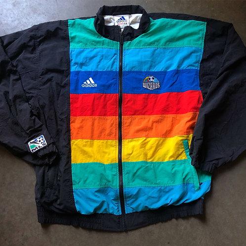 Vintage Adidas Kansas City Wizards Rainbow Windbreaker Jacket Sz L