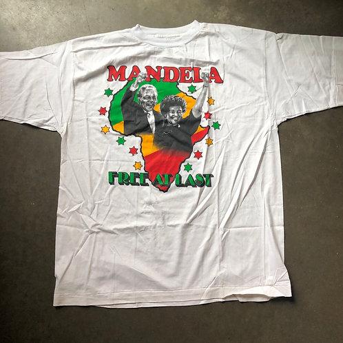 Nelson Mandela Free At Last T Shirt Tee Sz XL