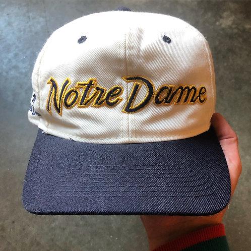 Vintage Sports Specialties Notre Dame Fighting Irish Script Snapback Hat