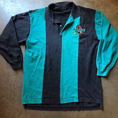 Vintage Denver Grizzlies Striped Polo Sz M