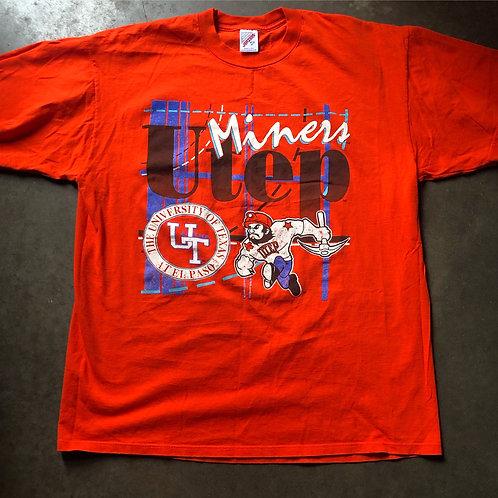 Vintage Jerzees UTEP Miners T Shirt Tee Sz XL