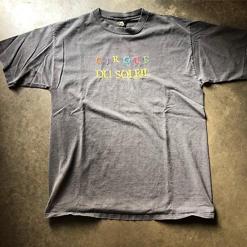 Vintage Cirque Du Soleil Gray Fade T Shirt Tee Sz L/XL