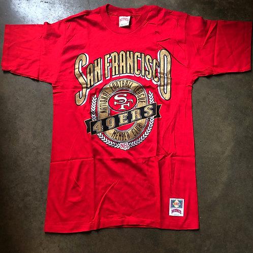 Vintage Nutmeg San Fransisco 49ers T Shirt Tee Sz L