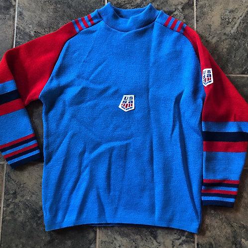 Vintage 70s US Ski Team Sweater Sz M/L
