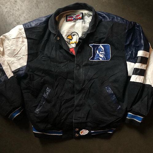 Vintage Jeff Hamilton Duke Blue Devils Leather Varsity Jacket Sz L