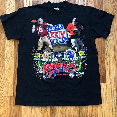 Vintage Stedman Super Bowl XXIV T Shirt Tee Sz M/L