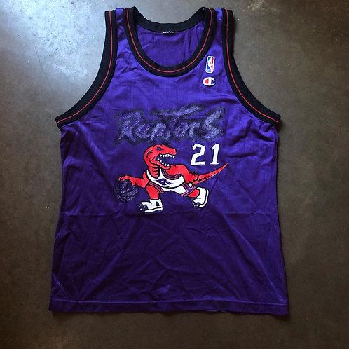 Vintage Champion Toronto Raptors Marcus Camby Jersey Sz 44