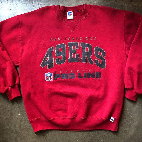 Vintage Russell San Francisco 49ers Crewneck Sweatshirt Sz L
