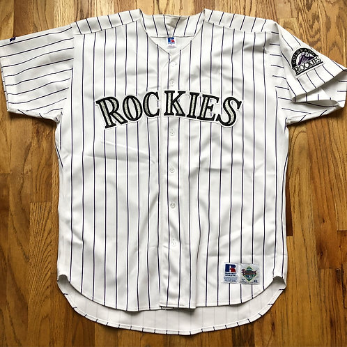 Vintage Russell Diamond Collection Colorado Rockies Authentic Jersey Sz 48