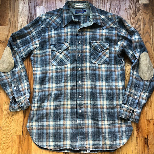 Vintage Pendleton High Grade Western Wear Elbow Patch Flannel Sz XL