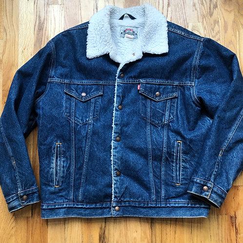 Vintage Levi's Sherpa Lined Denim Jean Jacket Sz L