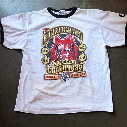 Vintage Starter Chicago Bulls Greatest Team Ever T Shirt Tee Sz XL