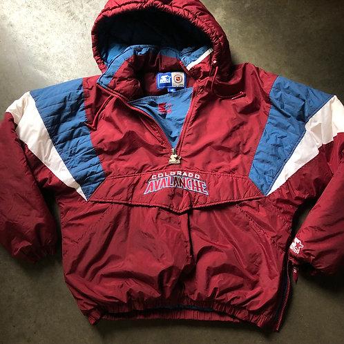 Vintage Starter Colorado Avalanche Puffer Jacket Sz M