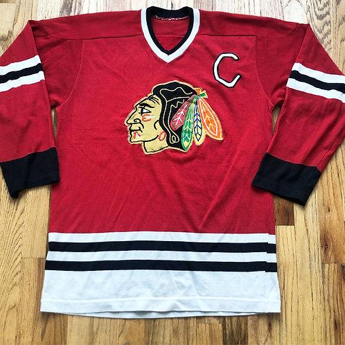 Vintage 70s Chicago Blackhawks Sweater Jersey Sz M/L