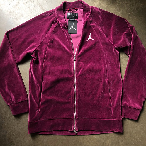 NWT Jordan Purple Velour Track Jacket Sz M