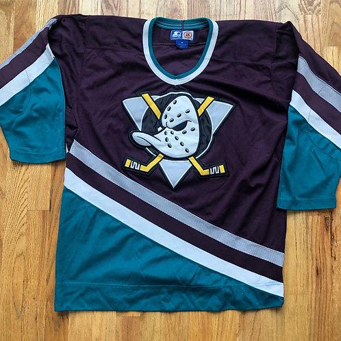 Vintage Starter Mighty Ducks Jersey Sz M