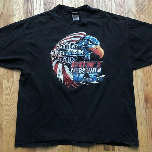 Vintage Harley Davidson  Bald Eagle T Shirt Tee Sz 2XL