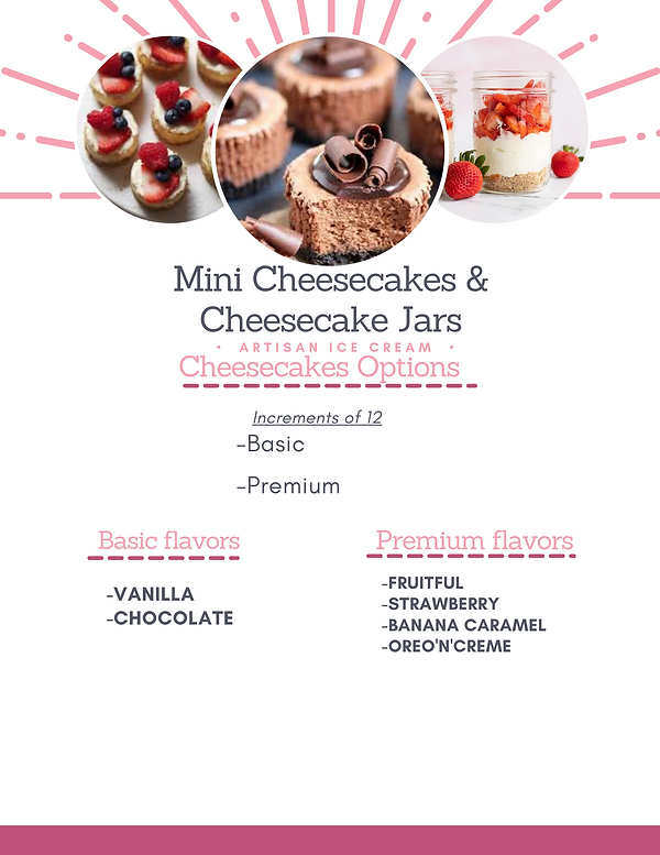 Mini Cheesecakes Cheesecake Jars & Cake
