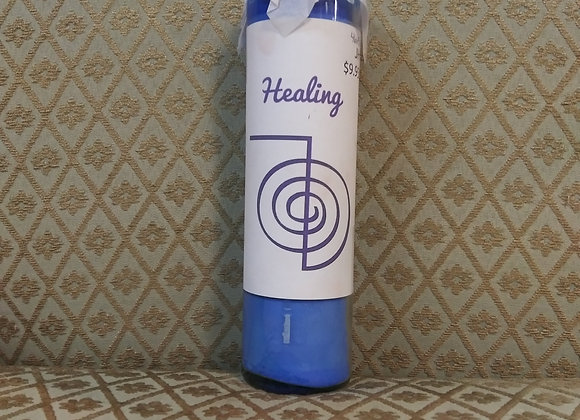 Reiki Healing Candle Blue