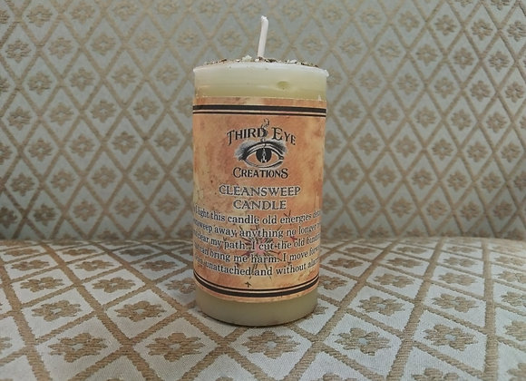 Cleansweep Pillar Candle