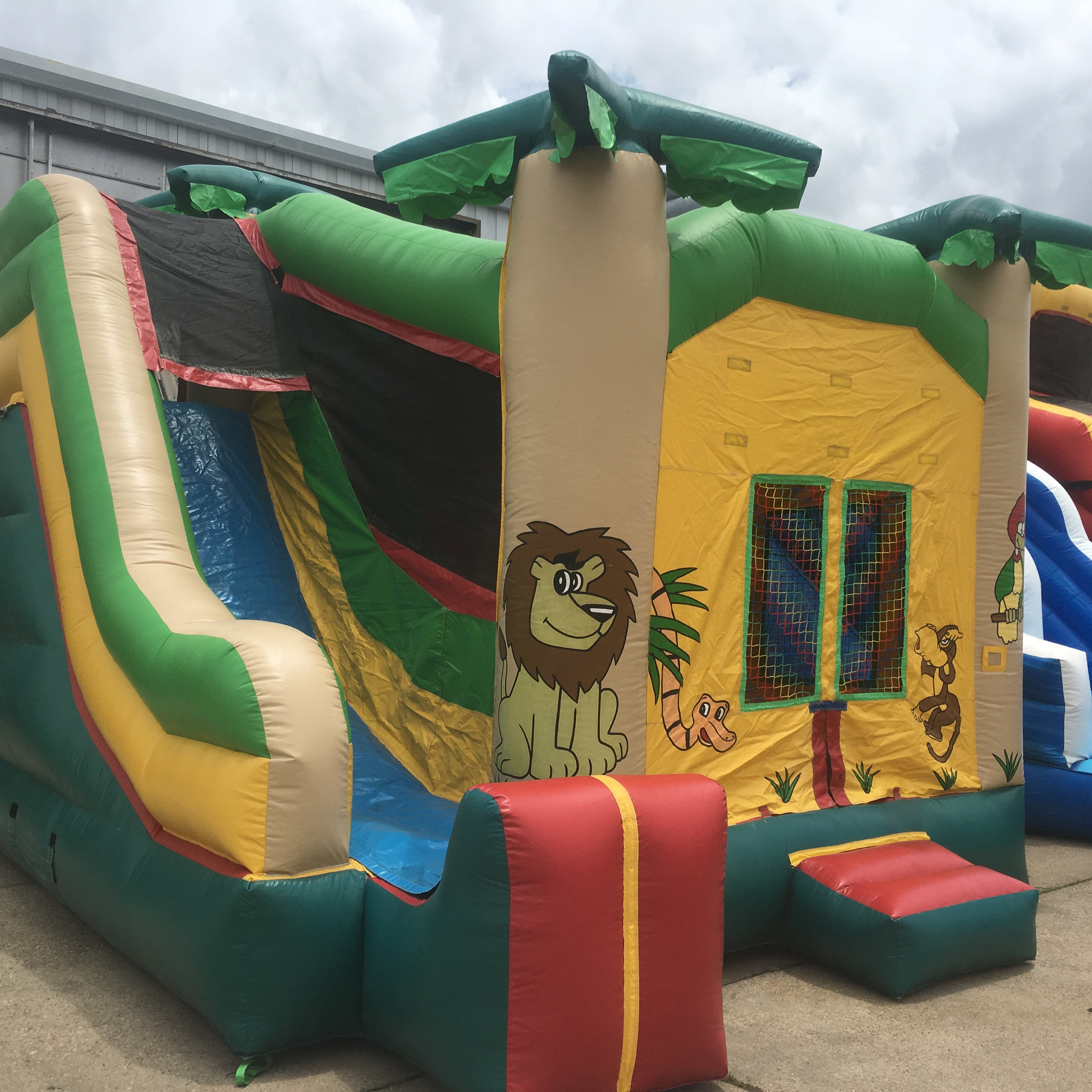 3 in 1 bounce house with slide