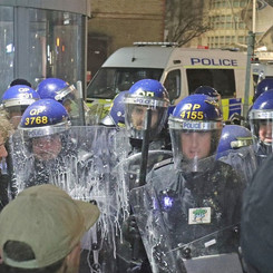 ENGLAND - Protests against planned police law!