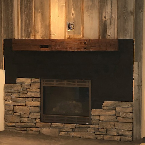 Remodeling, a fireplace