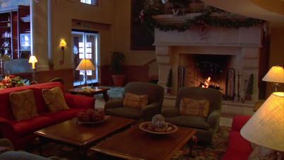 Hotel Lounge Fireplace