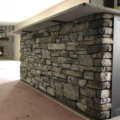 Stone Fireplace & Bar by Hearth & Home S