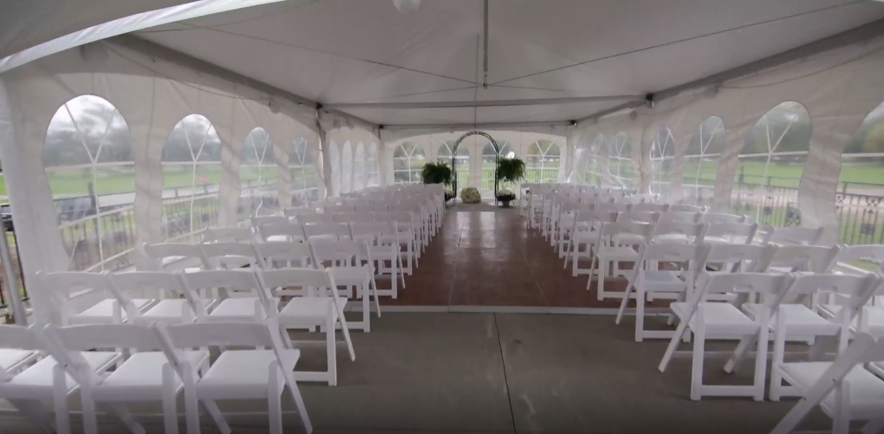 Outdoor Pation Weddings available