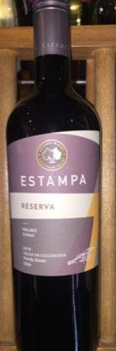 2018 Estampa Malbec/Syrah Colchagua, Chile  $12.99