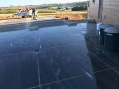 New garage floor concrete