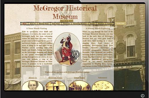Museum website Built by Illuminate Digital Prairie du Chien