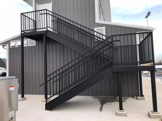 Steps are in on the press box concession stand at the new River Ridge Sports Complex.jpg