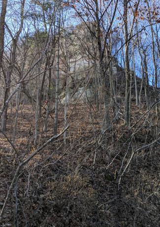 Bluff overlook in Alamakee County Iowa