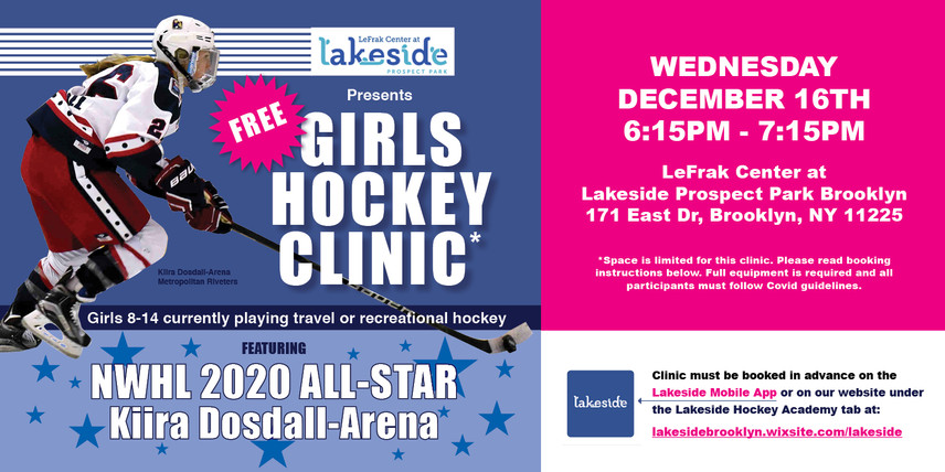 Girls Hockey Clinic with NWHL All Star Kiira Dosdall-Arena